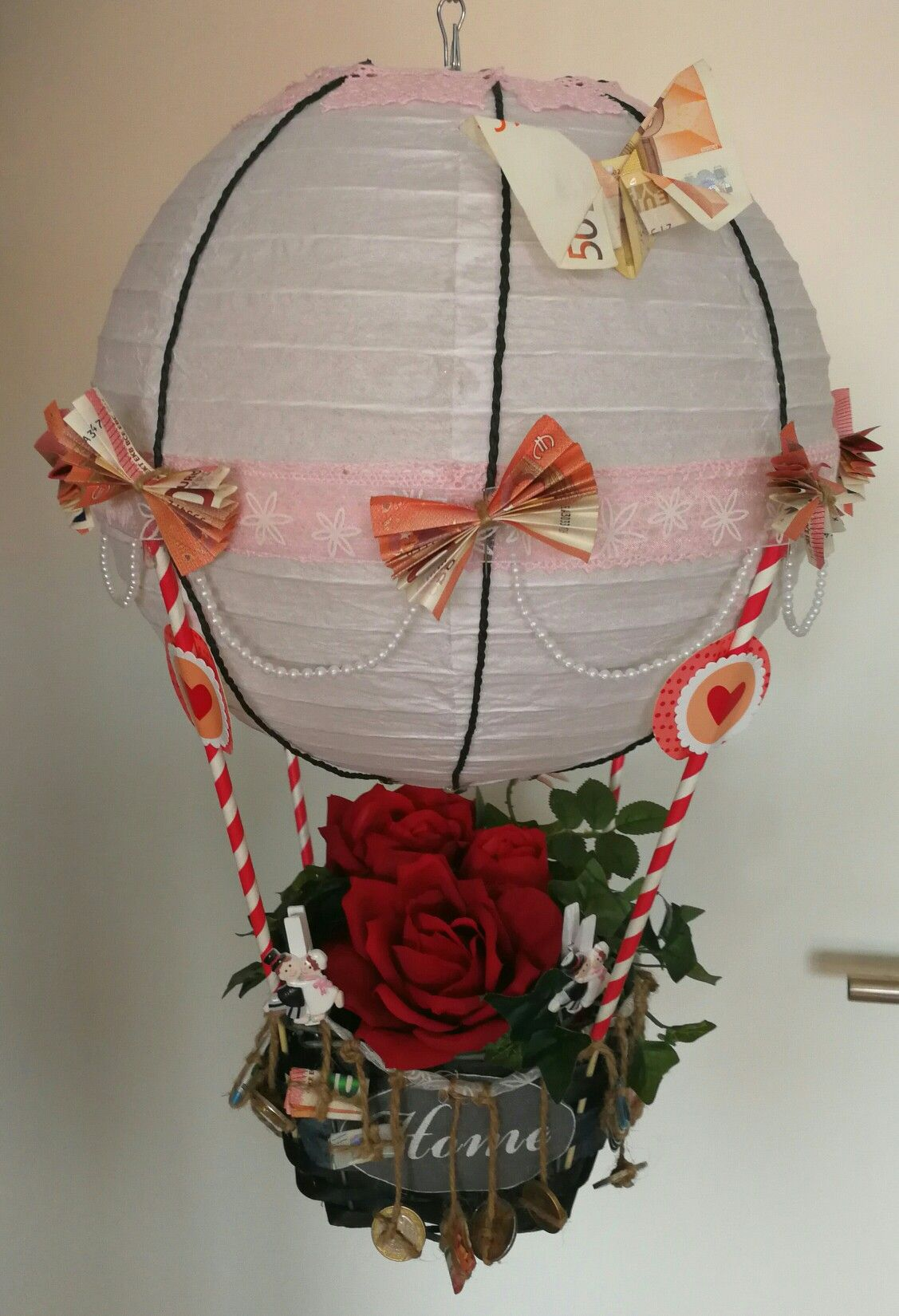 diy hei luftballon geldgeschenk von kollegen f r brautpaar geschenk ideen pinterest. Black Bedroom Furniture Sets. Home Design Ideas
