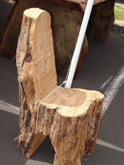 Tree Stump Chair Natural Wood Furniture Rustic Log