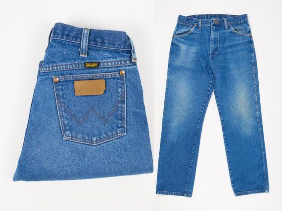 49f6a2e0 Size 30 Jeans- Vintage Wrangler Jeans 30W 30L- Distressed Jeans 30x30- Straight  Leg- Distressed Deni