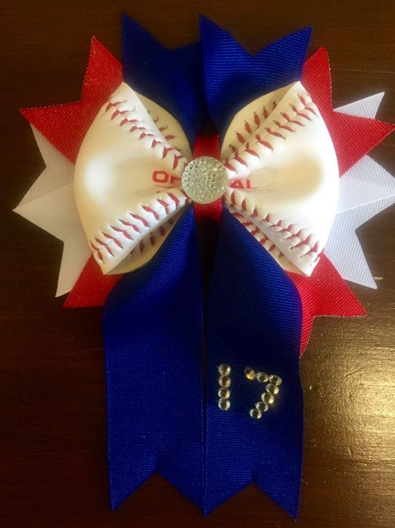 Shell look adorable at the ballgame! Rhinestone numbers on the tail to cheer for your favorite player! You choose ribbon colors! Can me made