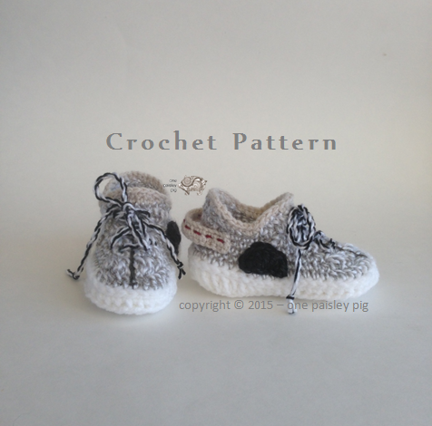02c5d938391d2 CROCHET PATTERN - Adorable Baby Shoes - Colors Inspired by Adidas Yeezy  Boost 350