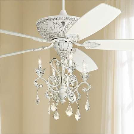 60 Inch Casa Montego Rubbed White Chandelier Led Ceiling Fan In 2020 With Images Ceiling Fan
