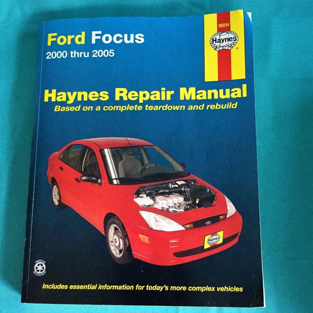 Haynes Repair Manual Ford Focus 2000 Thru 2005 CAR Teardown Rebuild Book  36034 #HaynesRepairManual #