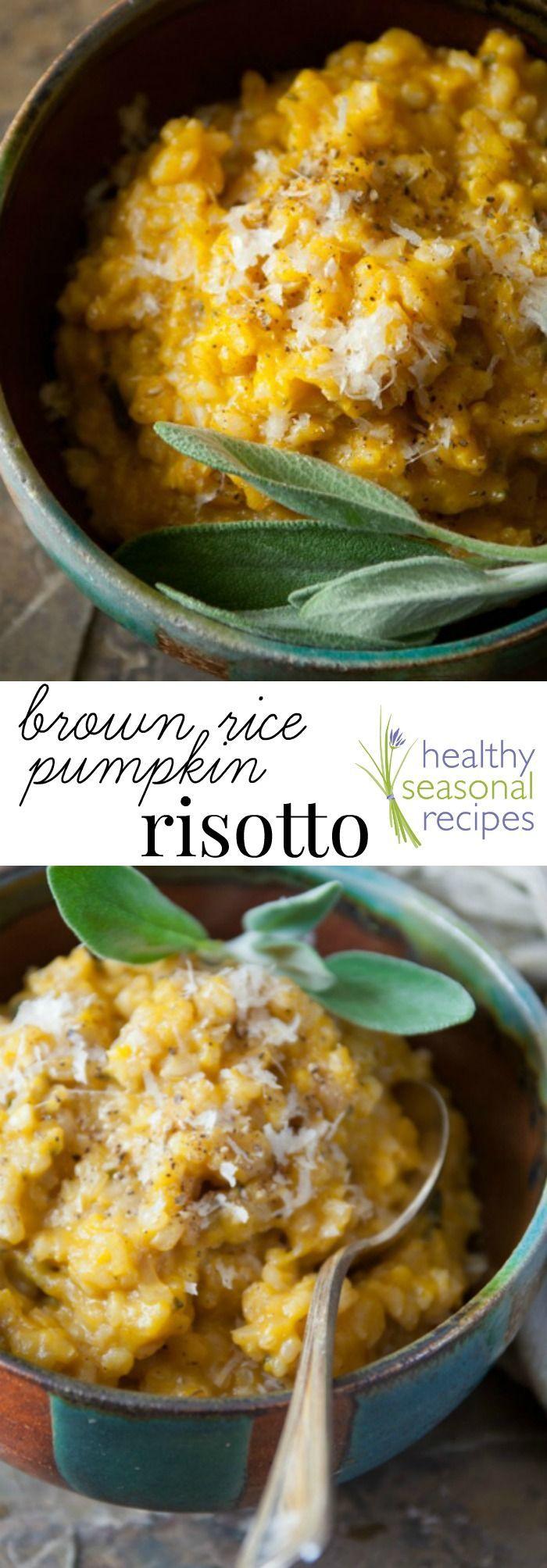 home made pumpkin puree and brown rice pumpkin risotto