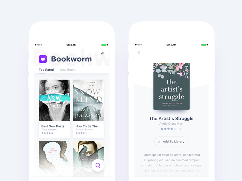 Free Books App Design Exploration App Design Mobile App Inspiration Book App