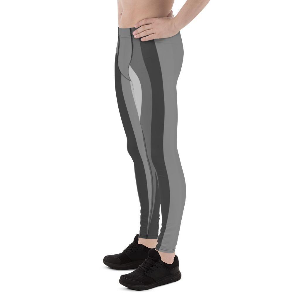 d1817e26e91d1 Gure Gray Stripes Men's Running Leggings & Run Tights Meggings Activew –  heidikimurart