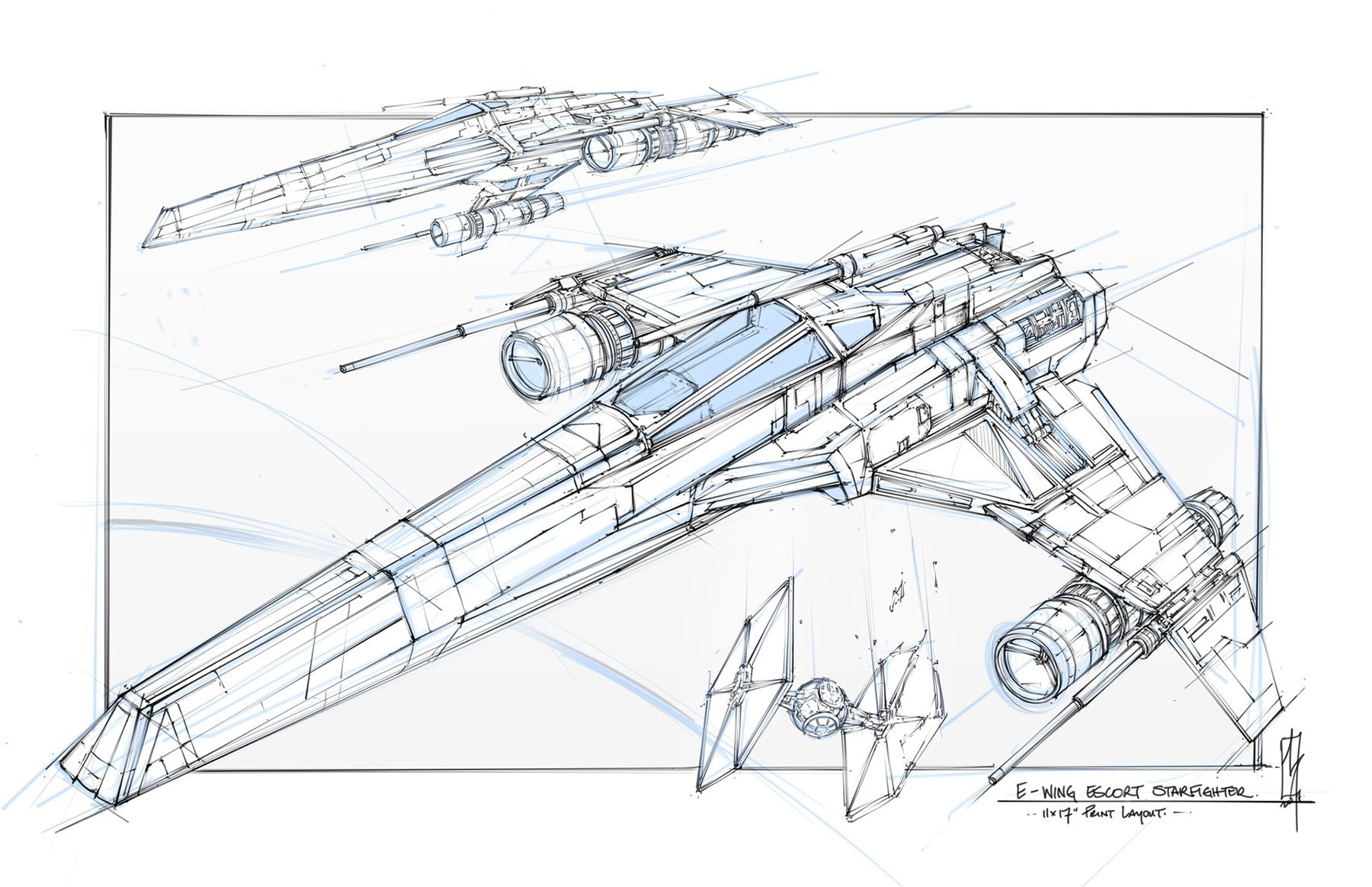 Spaceship Art By Shane Molina Keywords Star Wars X Wing Tie Fighter A Wing U Wing Digital Technical Concept Sp Star Wars Ships Spaceship Art Star Wars Poster