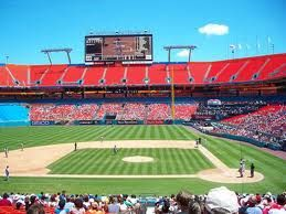 Joe Robbie Stadium (Later Known As Sun Life Stadium) Miami Gardens, Florida;  Saw The Florida Marlins Play A Number Of Games Here.