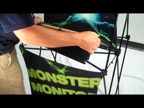 """Xpressions Monster Monitor tower, 20 lb stand, sets up in 1 minute, holds 55"""" monitors!"""