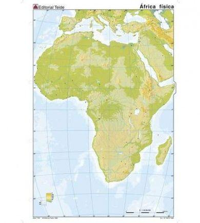 Mapa Africa Fisico Mudo.Pin En El Mundo