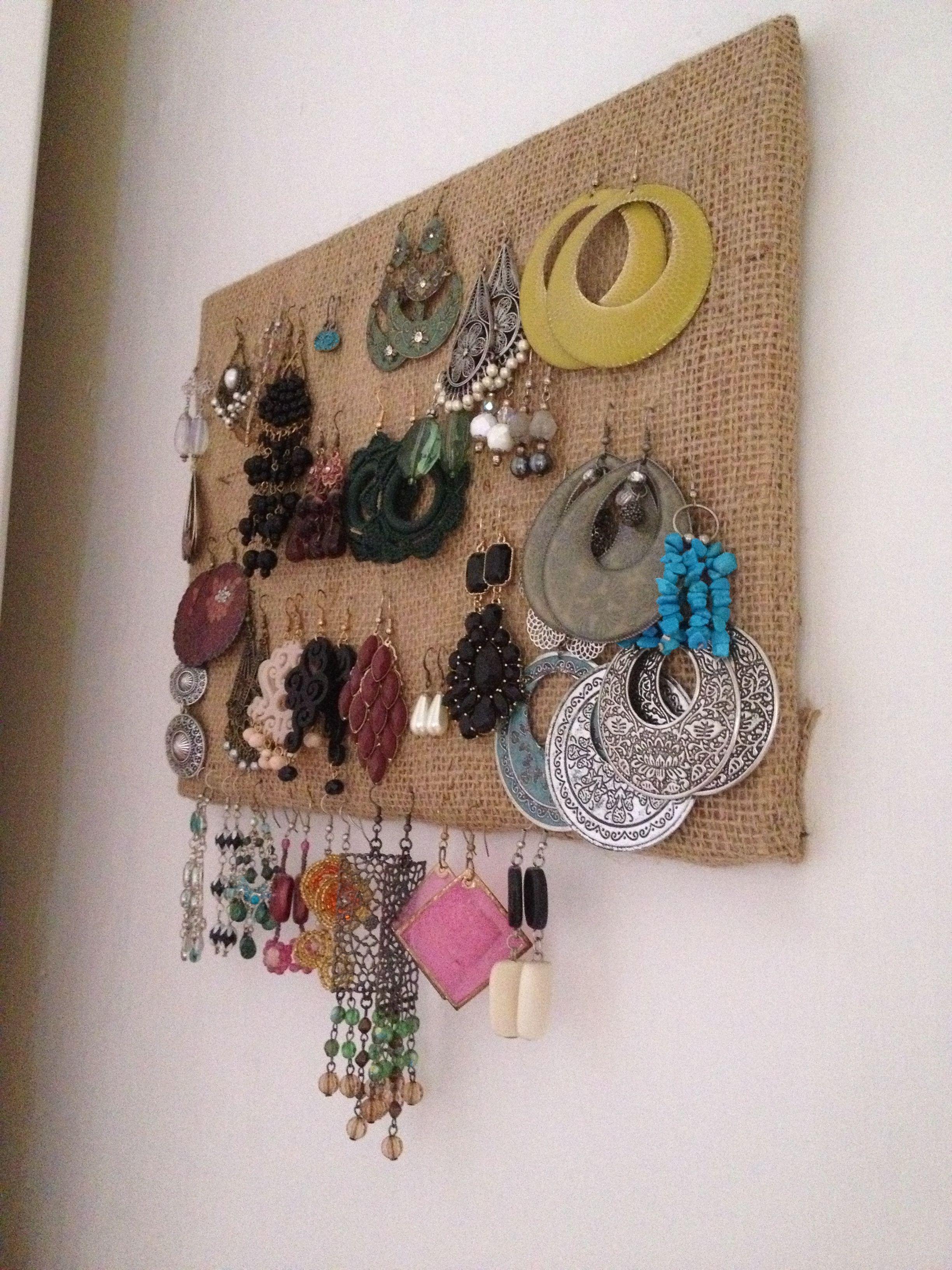 Porta orecchini fai da te idee originali pinterest tes and fai da te - Porta gioielli fai da te ...