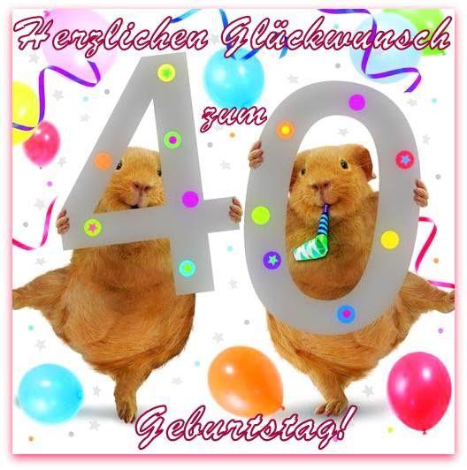 Herzlichen 40 Gluckwunsch Zum Geburtstag Birthday Wishes