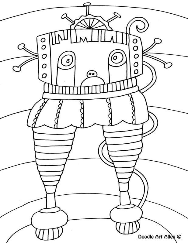 Robot Coloring Pages Doodle Art Alley Coloring Pages Doodle Art Doodle Lettering