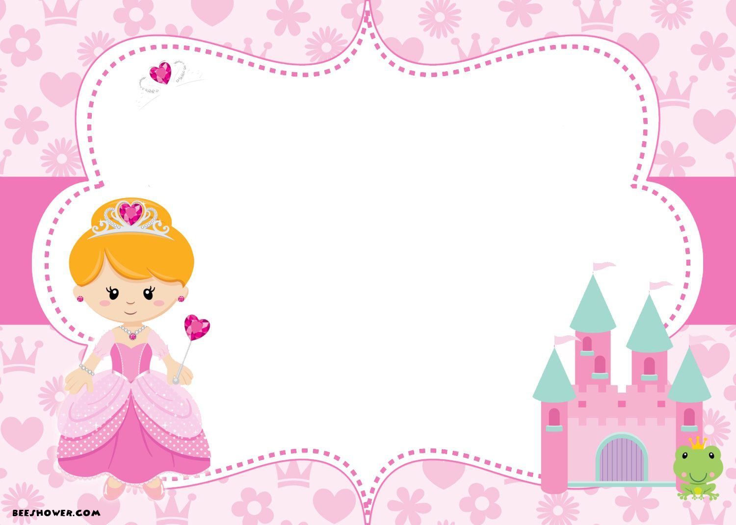 Download Now Princess Themed Baby Shower Ideas And Invitation