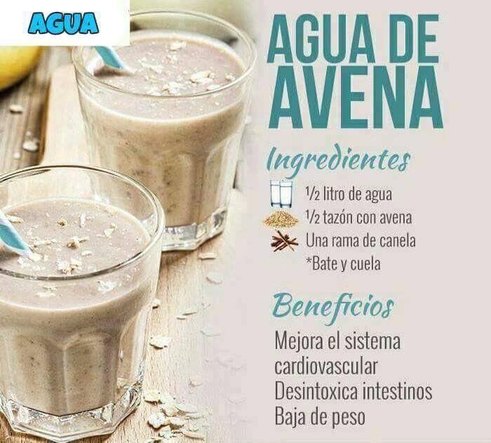Prepara Agua De Avena Cada Mañana Y Baja De Peso Agua De Avena Para Adelgazar Avena Desayuno Recetas Healthy Juices Workout Food Healthy Drinks Smoothies