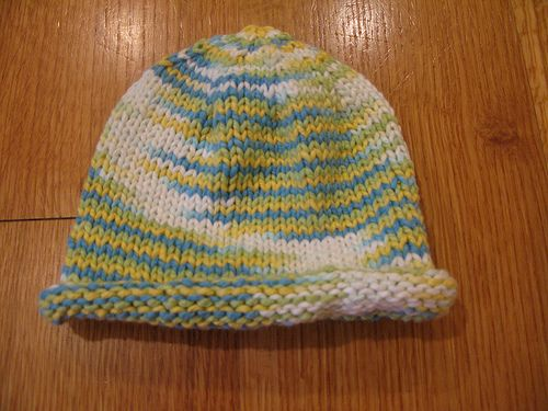 Ravelry Basic Newborn Baby Hat Rolled Brim Pattern By Jennifer
