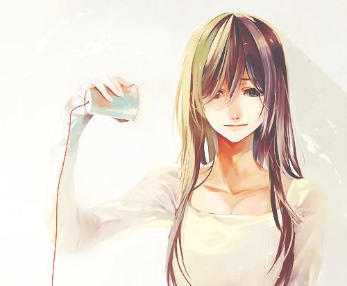 anime, art, beautiful, cute, girl, kawaii, manga, sad