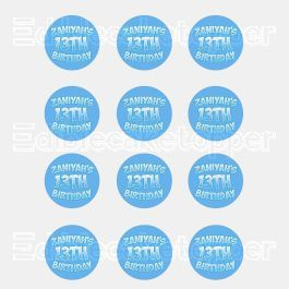 Happy Birthday Edible Cupcake Toppers (12 Images) Cake Image Icing Sugar Sheet Edible Cake Images #pictureplacemeant