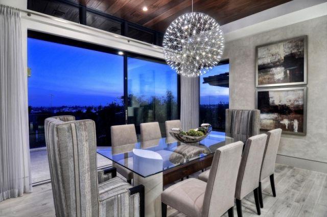 Kronleuchter led beleuchtung wohnzimmer esstisch - Lichtkonzept wohnzimmer ...