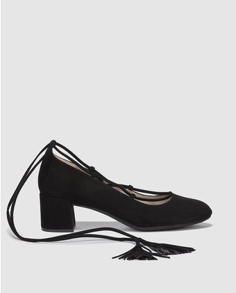 e9f78e5c09 Zapatos de salón de mujer Unisa negros con adorno cordón