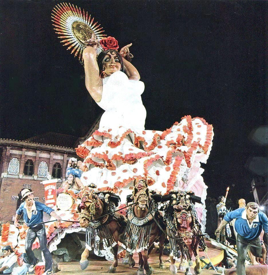 Plaza del Mercado Central 1972. Tercer Premio de la Sección Especial y Primer Premio de Infenio y Gracia. Artista: Vicente Luna