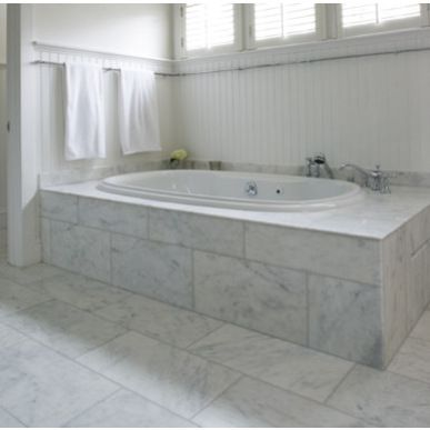 Carrara Marble 12 X 24 Tiles Google Search Tile Tub Surround Marble Tile Bathroom Marble Bathroom Floor