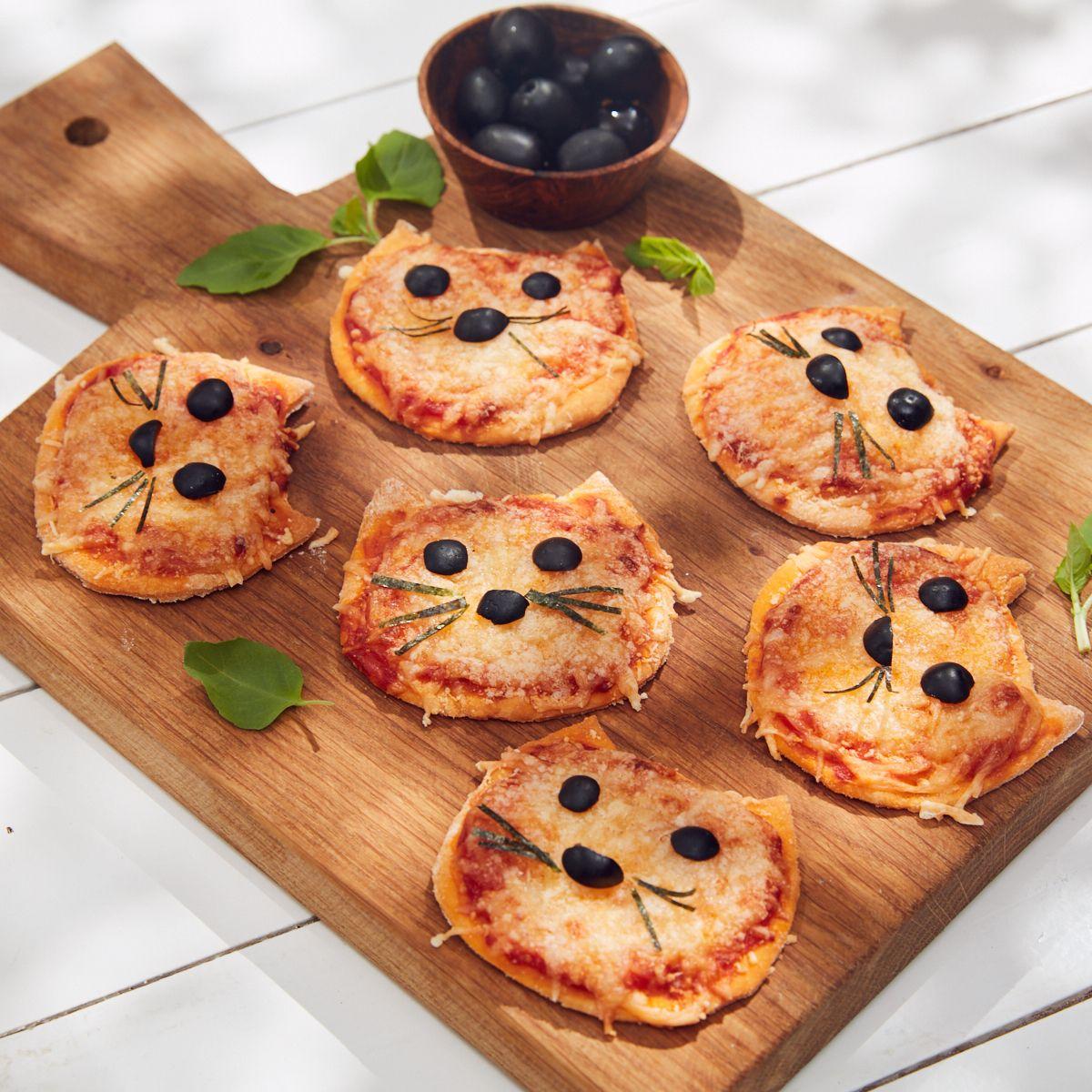 mini pizzas chats pizza pour enfants