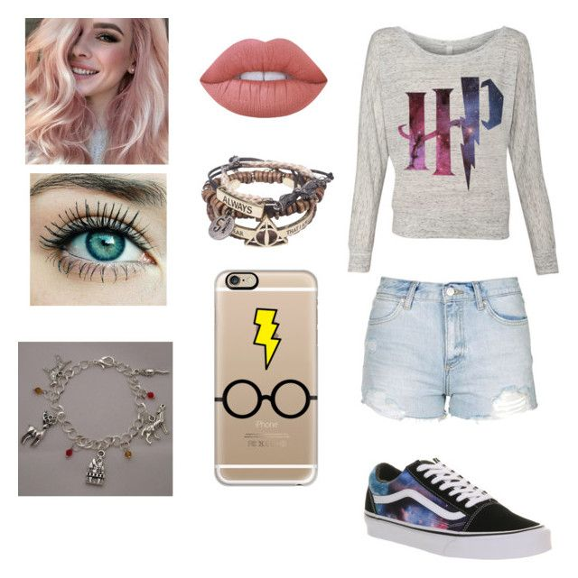 """HP 4ever 😍"" by dreamingirl7 ❤ liked on Polyvore featuring Topshop, Vans, Casetify and Lime Crime"