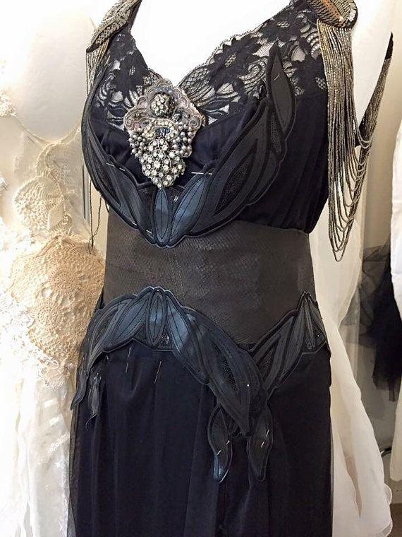 Goth Black wedding dress,Gothic treasure ,vampire scary,black ...