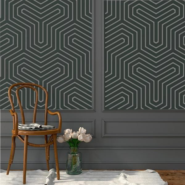 Geometric y pattern removable wallpaper from easy to apply peel stick full wall covering a new and fun diy home decorating solution