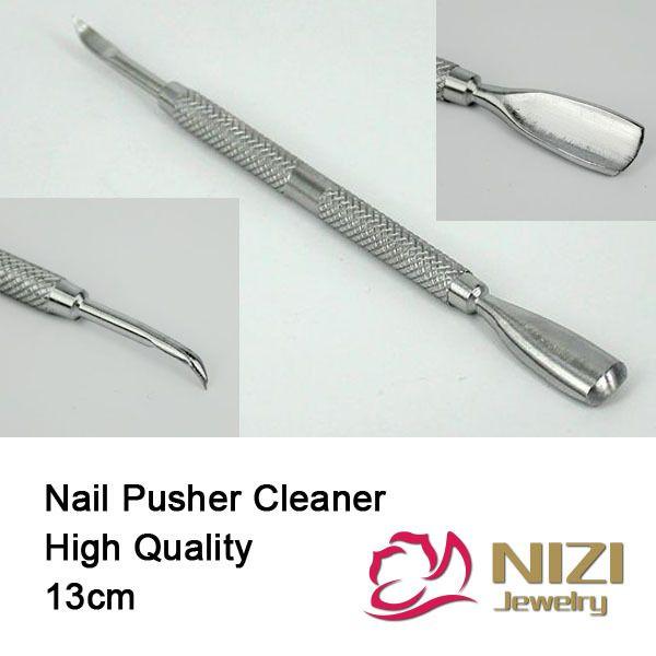 13mm 1 unid Acero Inoxidable Cutícula de uñas Pusher Spoon Removedor ...