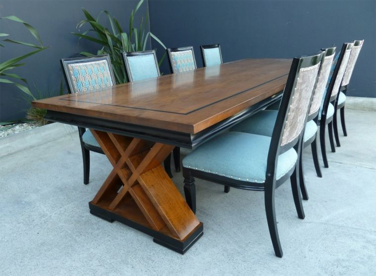 Mesas de comedor modernas de madera mesas comedor for Disenos de comedores de madera