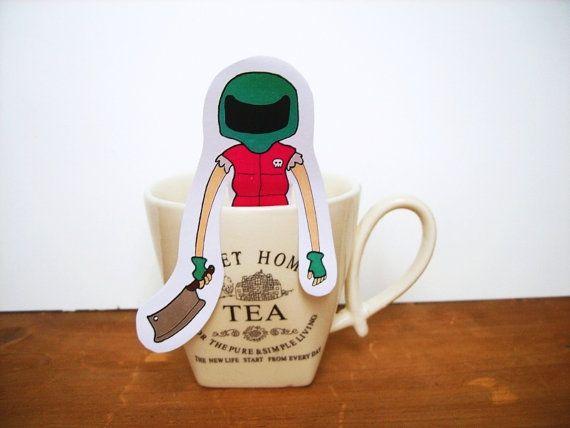 Hotline Miami Biker White Tea Gift For Him Gift For Her