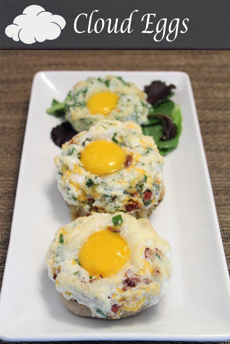 Cloud Eggs | Recipe | Sunday Brunch | Breakfast recipes, Breakfast, Eggs