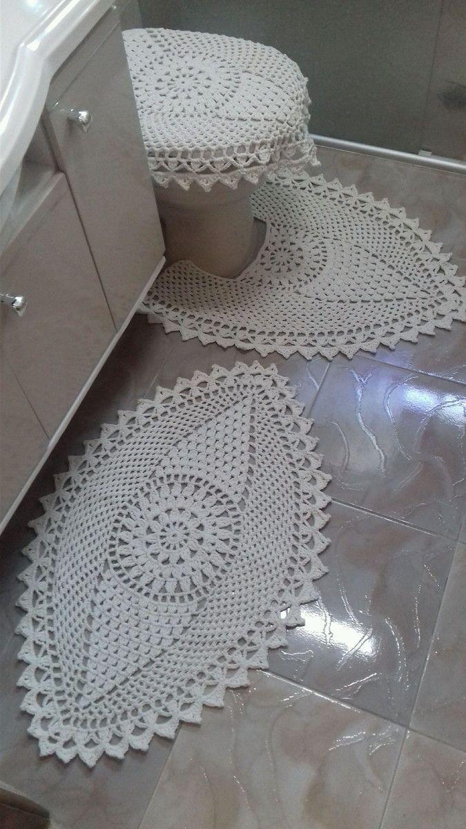 Jogo De Banheiro No Elo7 Cantinho Da Artes 96abea Croche Para Banheiro Jogos De Banheiro Croche Tapete De Croche