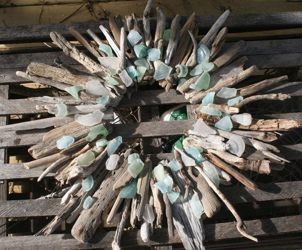 Best 25 Beach Glass Wreath Ideas On Pinterest Sea Glass