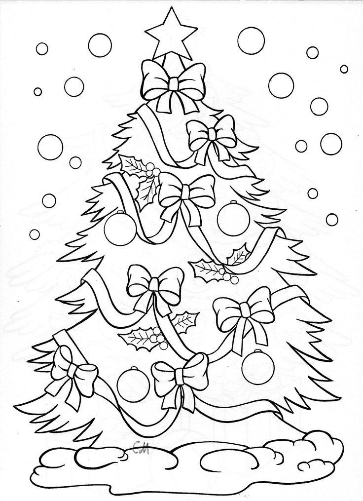 Christmas tree - coloring page: | CRAFT KIDS: COLOR PAGES ...
