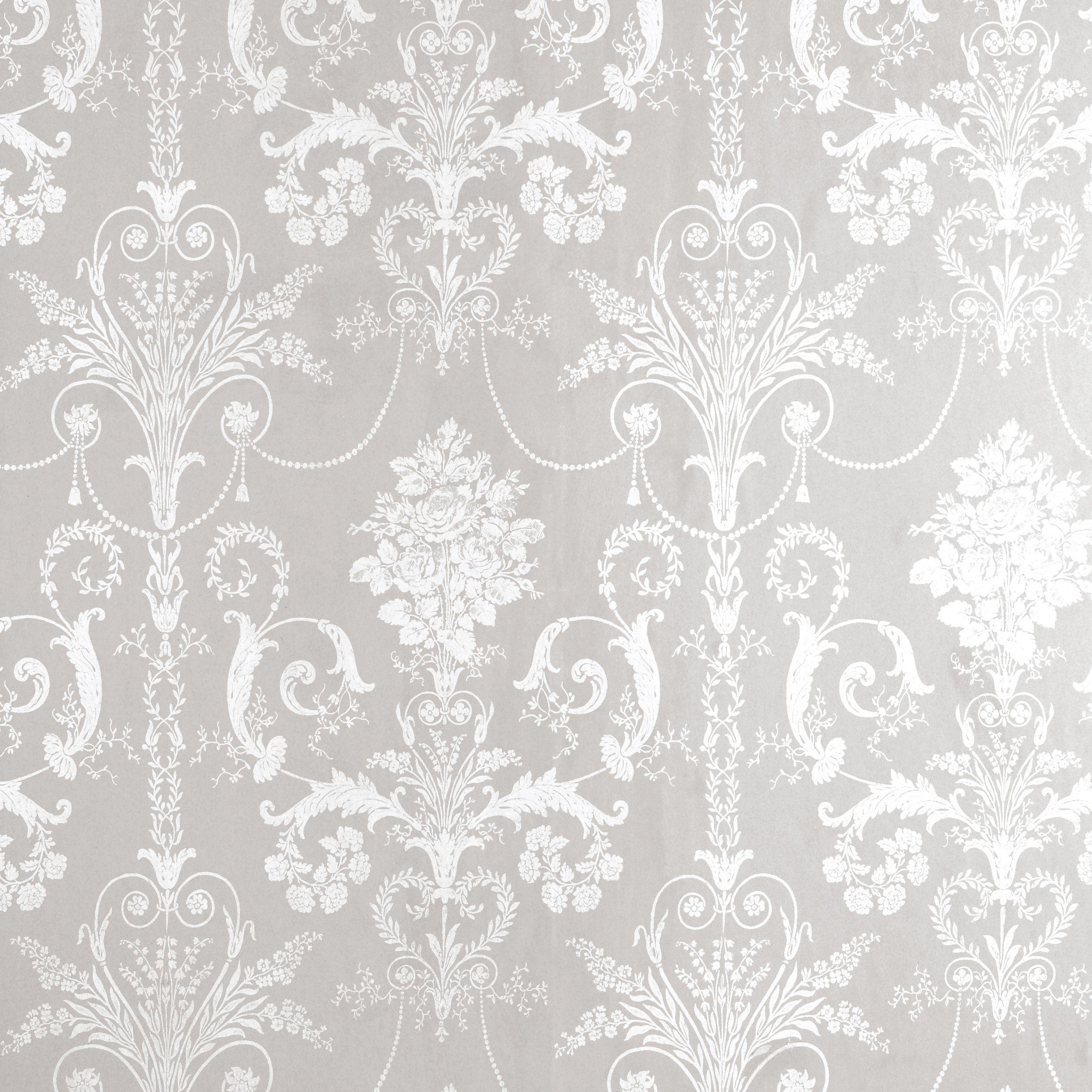 Damask Wall Paper josette white/dove grey damask wallpaper at laura ashley | טפטים