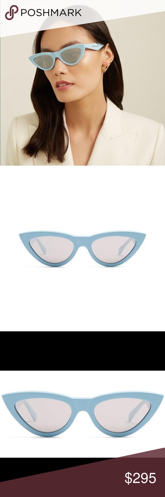 Celine Blue Cat Eye Sunglasses Nwot Cat Eye Sunglasses Sunglasses Blue Cats