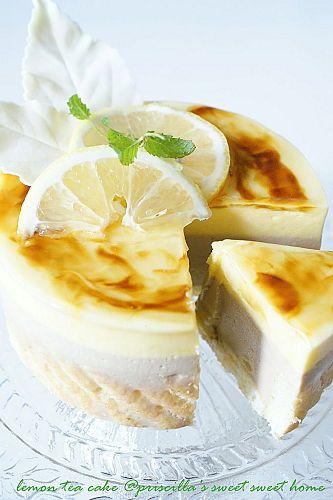 Lemon Tea Mousse Cake