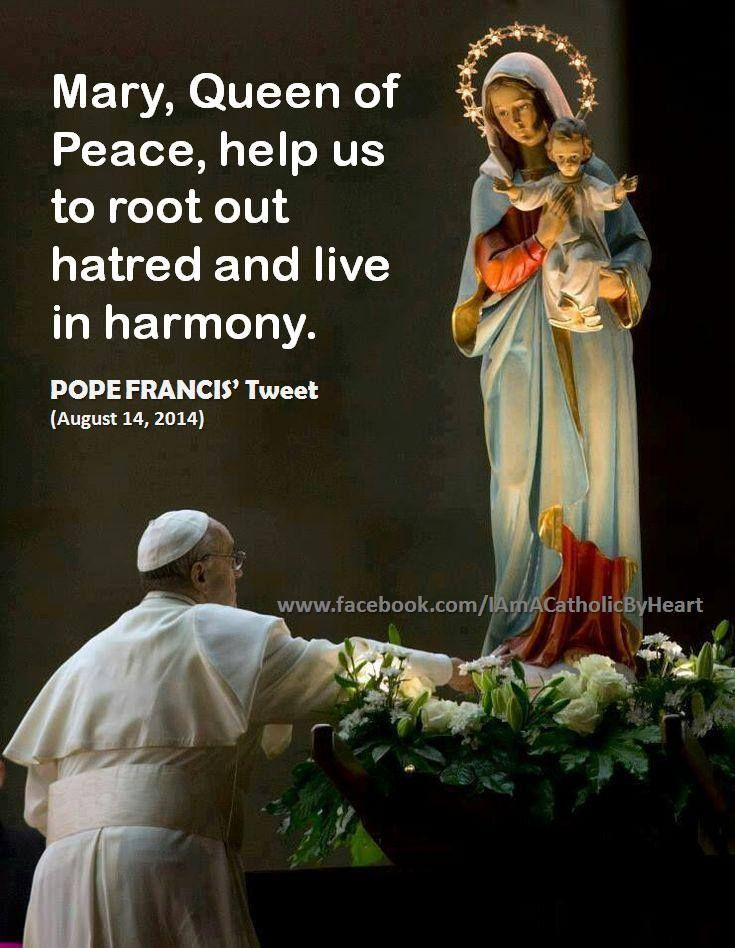 Image result for pope francis mary peace