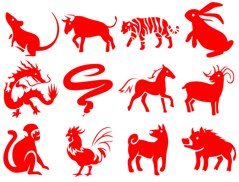 For an indigo dyeing project I designed these Chinese zodiac ...
