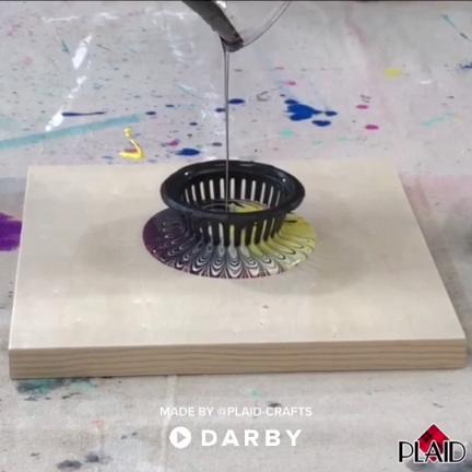 Diy Acrylic Strainer Pouring Create Super Fun Artwork Using