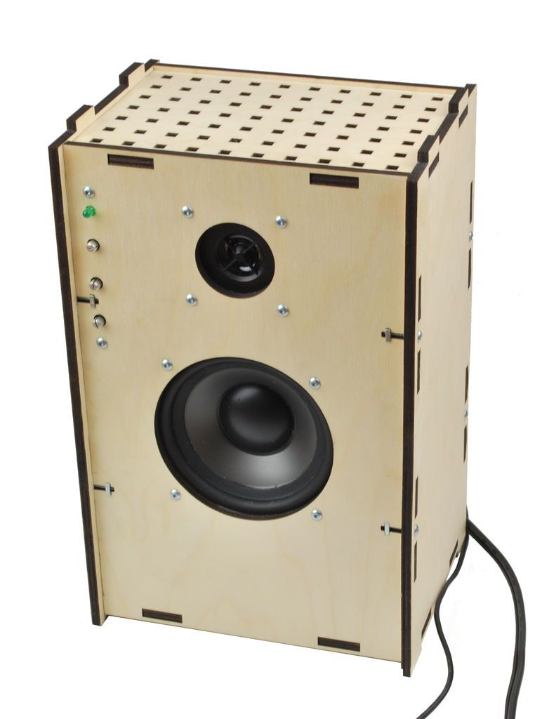 Laser-cut Speaker With Amplifier | Laser cutting, Plywood and Speakers