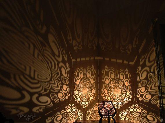 Shadow Lamps decorative night shadow light dodecahedron shapedpranayadesign
