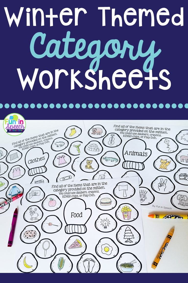 These Winter Themed Category Worksheets Are Great Printables That Will Keep Your Stude Winter Speech Therapy Speech Therapy Activities Preschool Speech Therapy [ 1152 x 768 Pixel ]