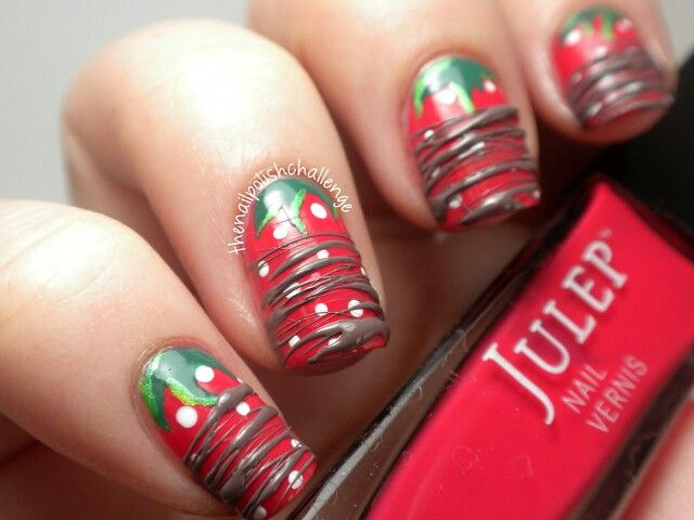 Chocolate covered strawberry nailsso delicious nails chocolate covered strawberry nailsso delicious prinsesfo Images