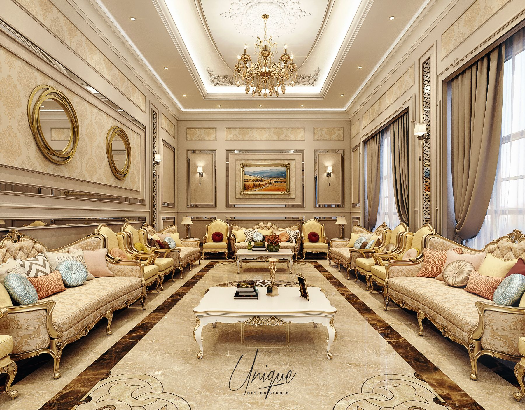Classic Majles On Behance In 2020 Luxury Living Room Design Luxury House Interior Design Luxury Living Room Decor