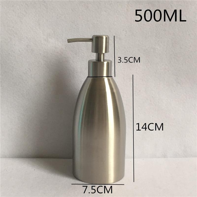 500ml 304 Stainless Steel Liquid Soap Dispenser Hand Sanitizer