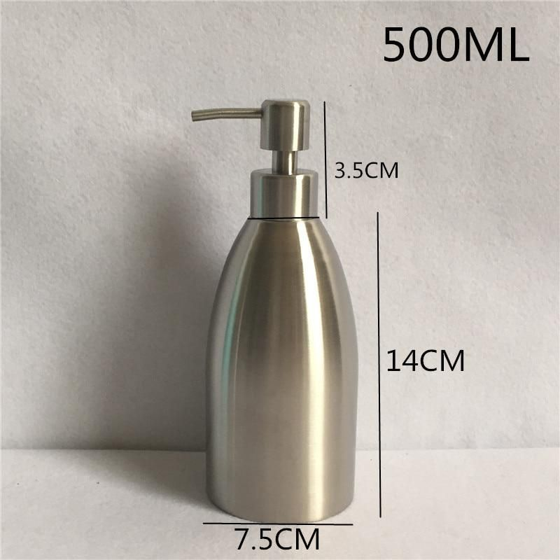 500ml 304 Stainless Steel Liquid Soap Dispenser Hand Sanitizer